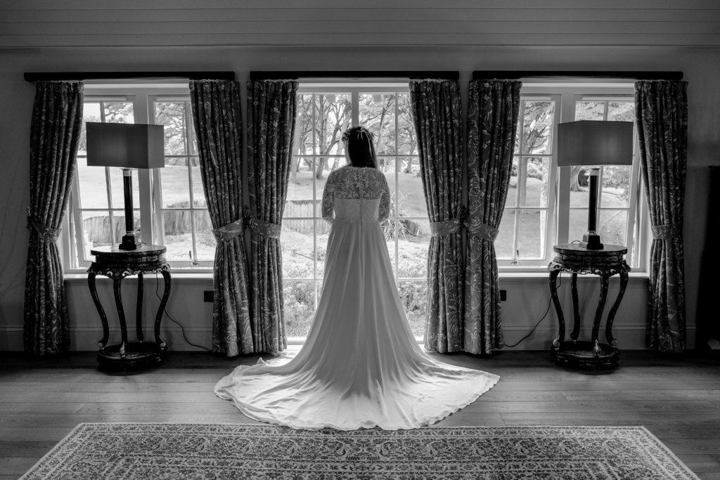 back view stunning wedding dress
