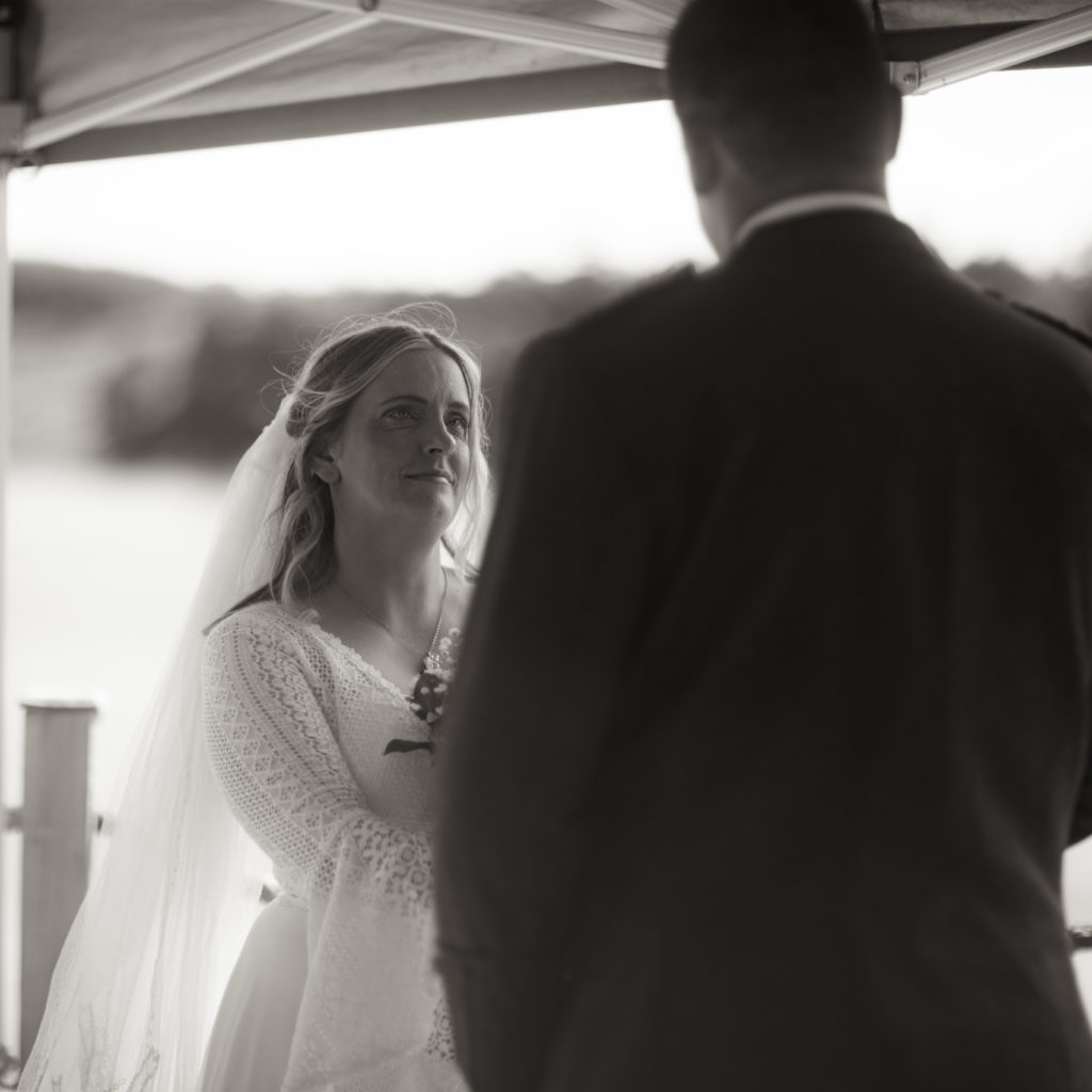 bride, garden wedding in the borders