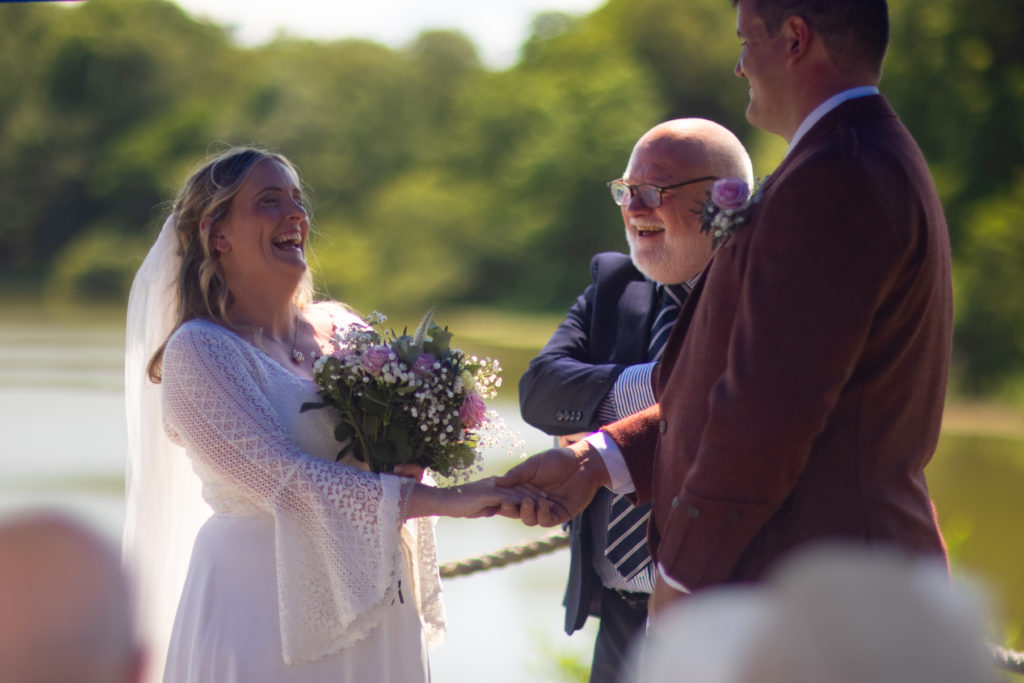 beautiful garden wedding in the borders