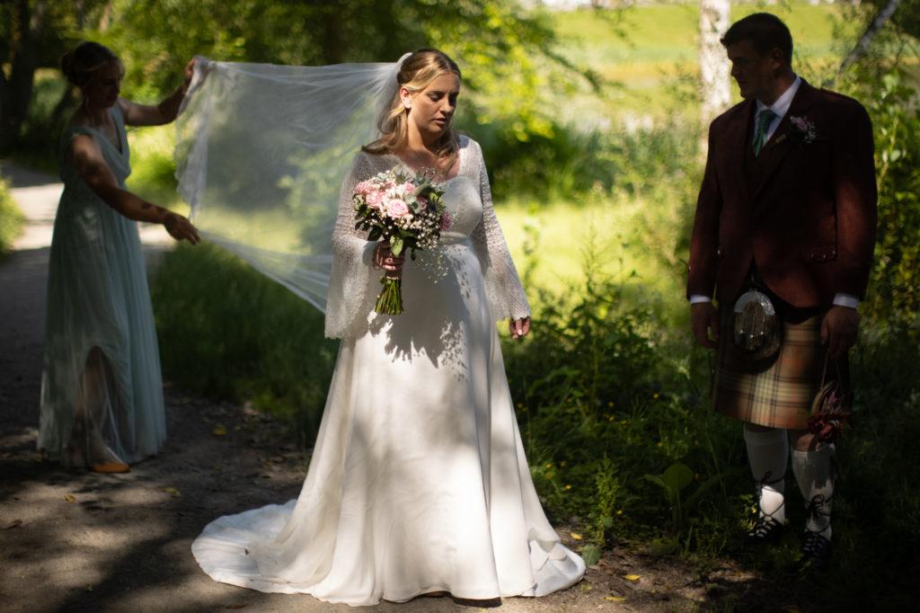 bridal portrait at Scottish Garden wedding