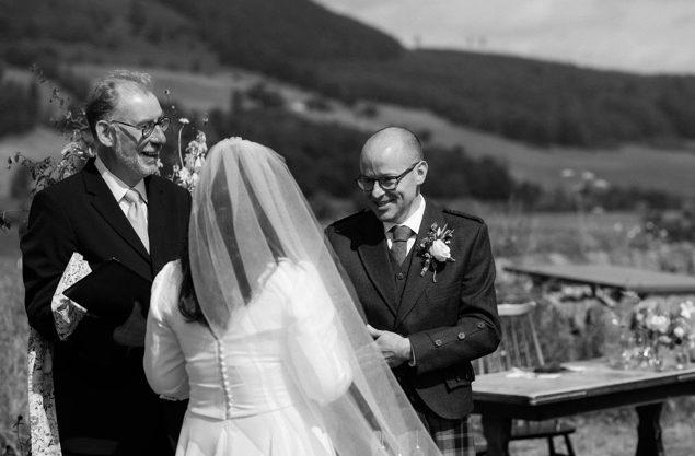 back view silk crepe wedding dress