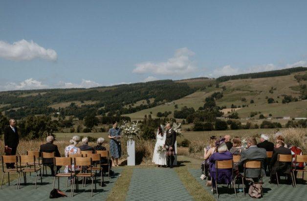 4th time lucky summer wedding