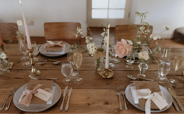 table setting 4th time lucky summer wedding