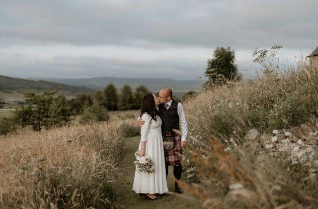 scottish outdoor wedding portrait