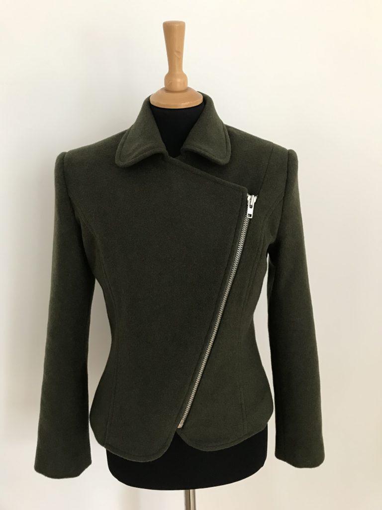 Biker Jacket with asymmetric zip detail
