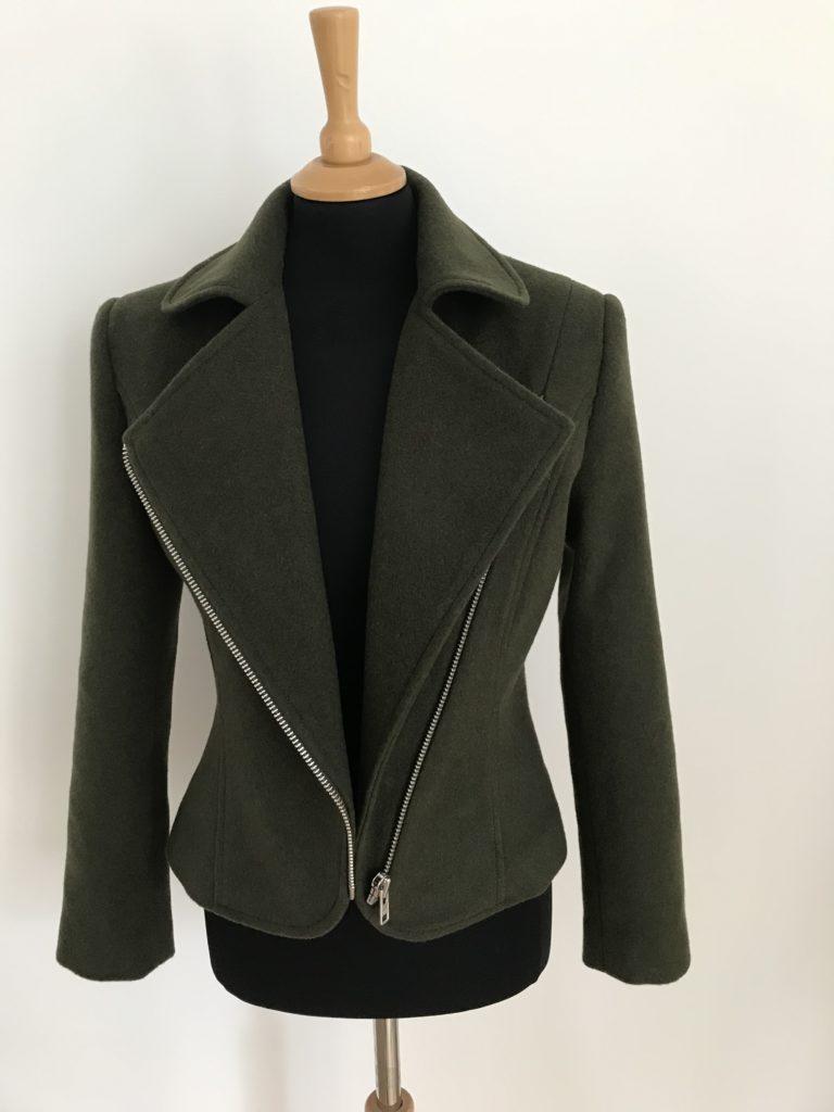 wool and cashmere blend biker jacket
