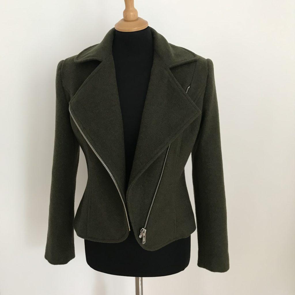 versatile wool cashmere short jacket